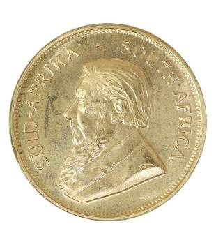 1978 GOLD KRUGERRAND GOLD COIN, ONE OUNCE GOLD
