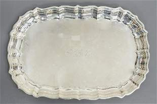 REED & BARTON CHIPPENDALE STERLING SERVICE TRAY