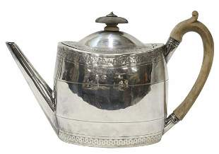 ENGLISH GEORGE III HENRY CHAWNER STERLING TEAPOT