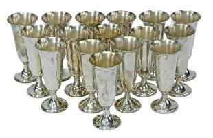 (16) AMERICAN GORHAM STERLING SILVER CORDIAL CUPS
