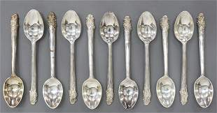 (11) SANBORNS MEXICO STERLING SILVER TEASPOONS
