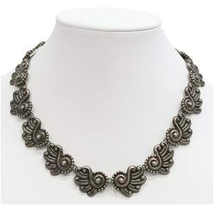 LOS BALLESTEROS TAXCO STERLING CHOKER NECKLACE