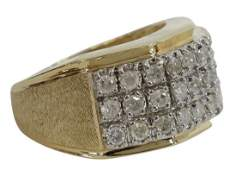 ESTATE 14KT GOLD & APPROX 1CTTW DIAMOND RING