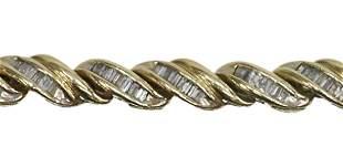 ESTATE 14KT GOLD & 3.5 CTTW DIAMOND BRACLET