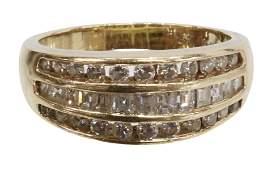 ESTATE 14KT YELLOW GOLD & 1.05CTTW DIAMOND RING