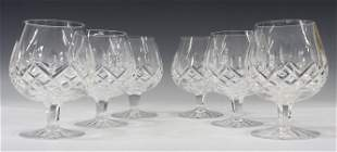 (6) WATERFORD 'LISMORE' CRYSTAL BRANDY SNIFTERS