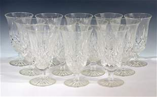 (12) WATERFORD 'LISMORE' CRYSTAL ICED TEA GLASSES