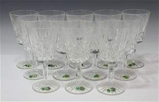 (12) WATERFORD 'LISMORE' CUT CRYSTAL WATER GOBLETS