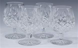 (4) WATERFORD 'LISMORE' CUT CRYSTAL BRANDY GLASSES