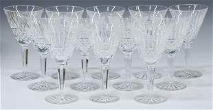 (12) WATERFORD 'MAEVE' CUT CRYSTAL WATER GOBLETS