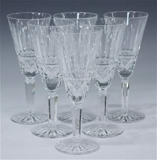 (6) WATERFORD 'MAEVE' CUT CRYSTAL CHAMPAGNE FLUTES