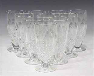 (10) WATERFORD 'COLLEEN' CRYSTAL ICED TEA GLASSES