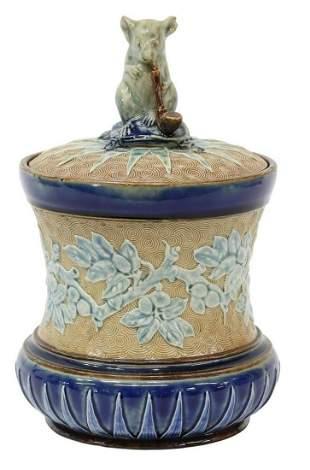 DOULTON TINWORTH MOUSE STONEWARE TOBACCO JAR