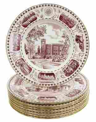 (8) ROYAL WINTON CULVER MILITARY ACADEMY PLATES