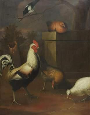 MANNER OF MELCHIOR D'HONDECOETER BIRDS PAINTING