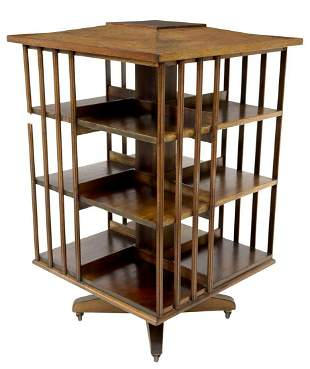 AMERICAN ROTATING BOOKCASE LIBRARY STAND