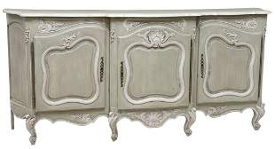 FRENCH PROVINCIAL LOUIS XV STYLE PAINTED SIDEBOARD