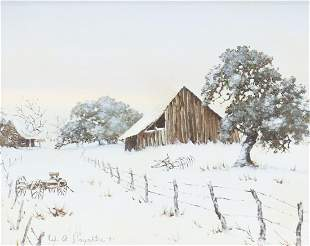 WILLIAM A. SLAUGHTER (1923-2003) HOMESTEAD WINTER