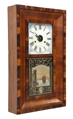 SOUTHERN CLOCK CO. MAHOGANY EIGHT-DAY CLOCK