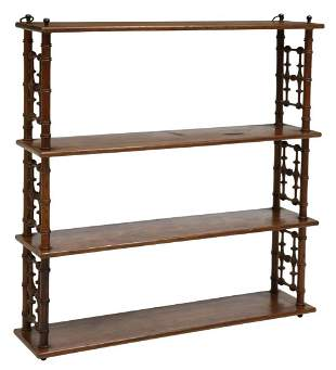 FRENCH PROVINCIAL PINE WALL-MOUNTED ETAGERE SHELF