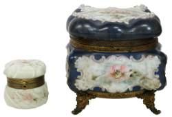 (2) VICTORIAN WAVECREST (ATTRIB.) DRESSER BOXES