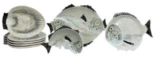 (8) CHRISTIAN DIOR FISH & OYSTER PLATES