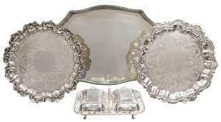 (4) ENGLISH & AMERICAN SILVER PLATE TABLEWARE