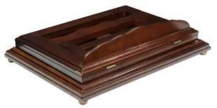 BOMBAY CO. MAHOGANY TABLETOP SWIVEL BOOK STAND