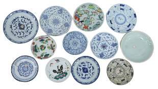(12) CHINESE ENAMELED PORCELAIN PLATES