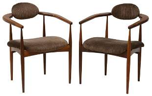 (4) MID-CENTURY MODERN UPHOLSTERED ARMCHAIRS