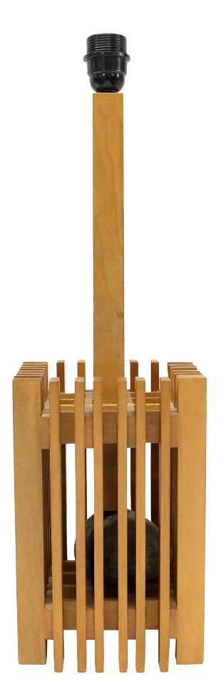 ITALIAN MID-CENTURY MODERN SLATTED TABLE LAMP