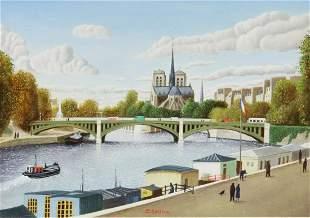 PIERRE BAZIRE (B.1938) NOTRE-DAME DE PARIS