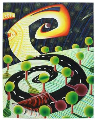 JAMES S. LUTTRELL OIL PAINTING SPIRAL ROAD