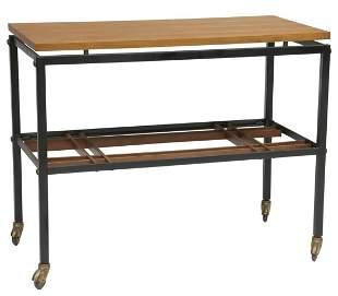 ITALIAN MID-CENTURY MODERN ROLLING SIDE TABLE