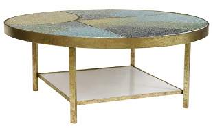 CONTEMPORARY TILE MOSAIC COFFEE COCKTAIL TABLE
