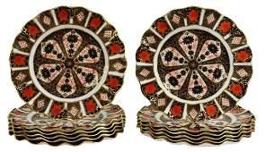 (12) ROYAL CROWN DERBY 'OLD IMARI' DESSERT PLATES