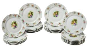 (34) FRENCH LIMOGES GEORGES BOYER 'RENOIR' PLATES