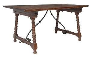 SPANISH BAROQUE STYLE SINGLE-BOARD TABLE