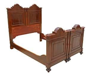 ITALIAN MAHOGANY BED