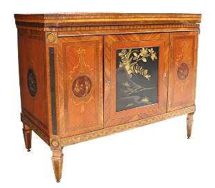 FRENCH LACQUERED MAHOGANY SIDEBOARD SERVER