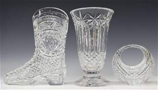 (3) WATERFORD CUT CRYSTAL DECORATIVE GIFTWARE