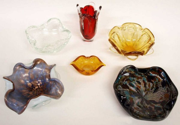 COLLECTION VINTAGE MURANO ART GLASS BOWLS
