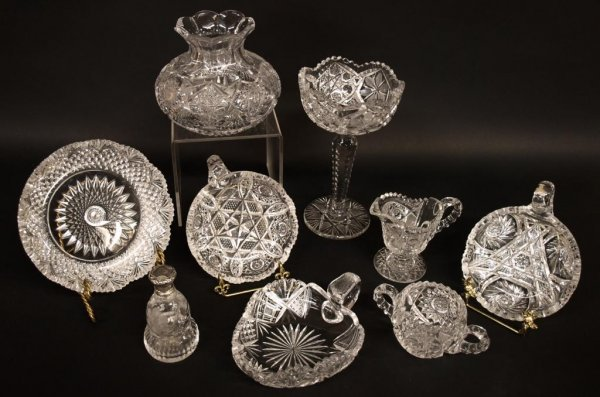 COLLECTION BRILLIANT PERIOD & OTHER CUT GLASS