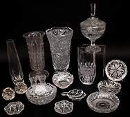HUGE LOT PRESSED MOLDED  CUT GLASS ARTICLES