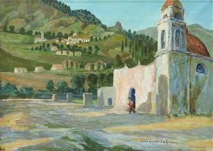 CECIL CRAWFORD O'GORMAN (1874-1943) MEXICO CHURCH
