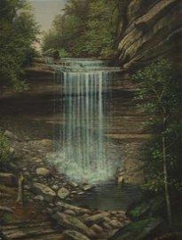 WILLIAM McKENDREE SNYDER (D.1930) WATERFALL