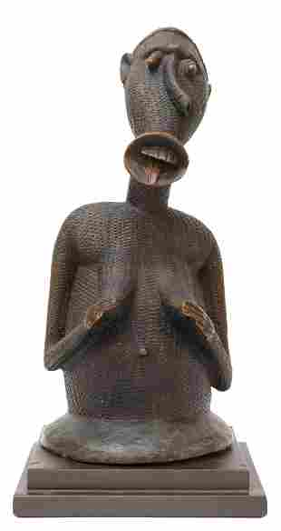 AFRICAN LUBA FIGURAL TRIBAL WOOD CARVING