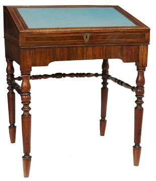 MAHOGANY SLANT-FRONT WRITING DESK TABLE