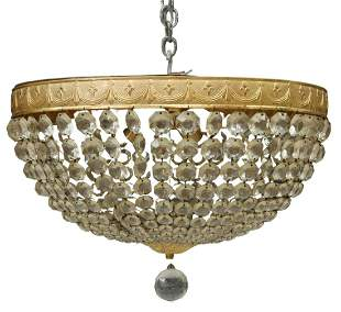 EMPIRE STYLE CEILING MOUNT FOUR-LIGHT CHANDELIER