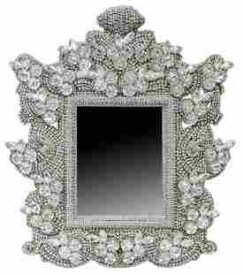 LARGE B.B. SIMON SWAROVSKI CRYSTAL TABLE MIRROR